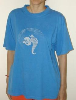 Ganesha Aum Royal Blue T-Shirt