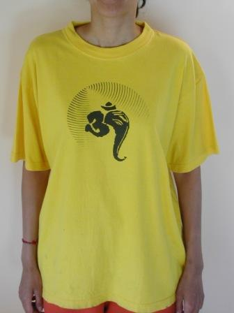 Ganesha Aum Yellow T-Shirt