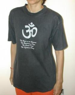 Text Aum T-Shirt Black